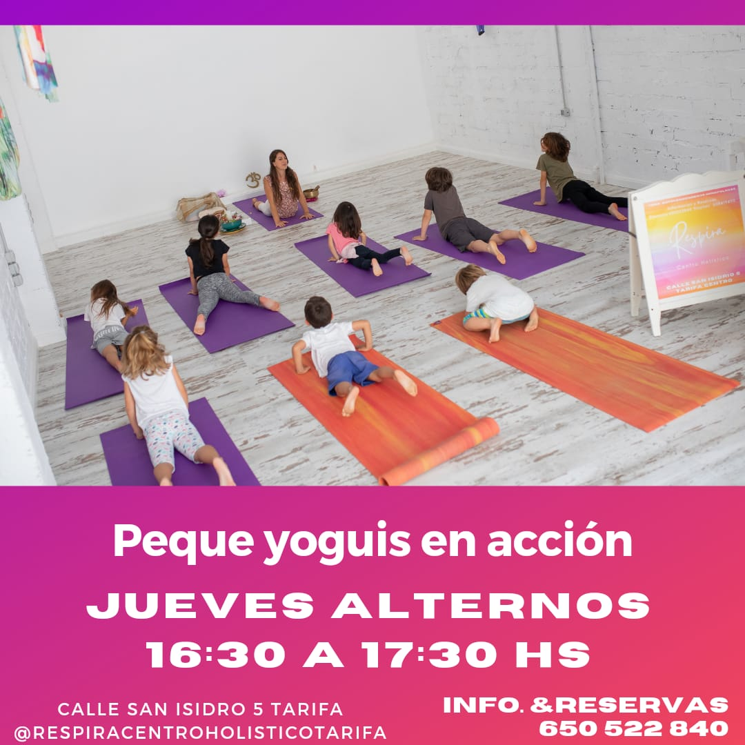 Clases de yoga para niñ@s - Peque yoguis en acción en Centro Respira Tarifa