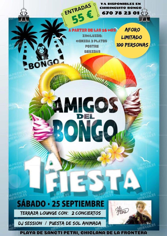 1ª Fiesta Amigos del Bongo en Chiringuito Bongo, Sancti Petri