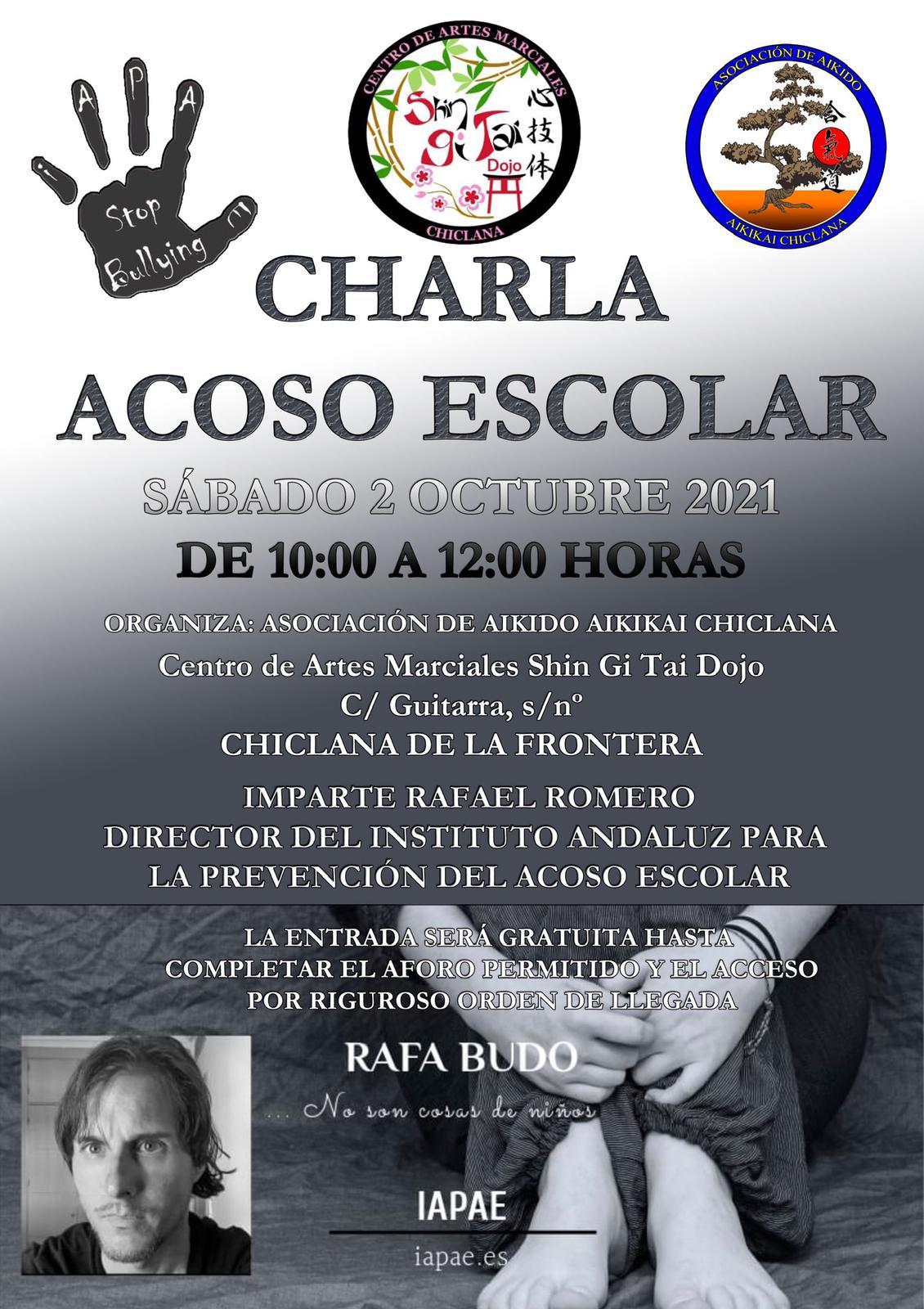 Charla sobre Acoso Escolar en la Asociación de Aikido de Chiclana