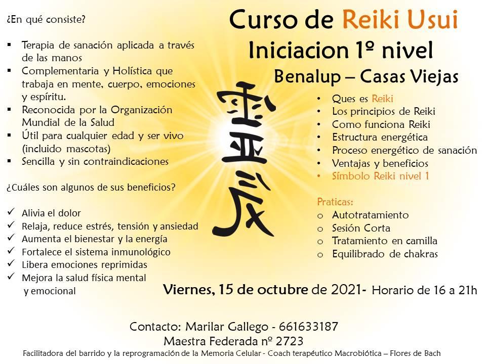 Curso de Reiki Usui - Iniciación 1er nivel - Benalup-Casas Viejas, Cádiz