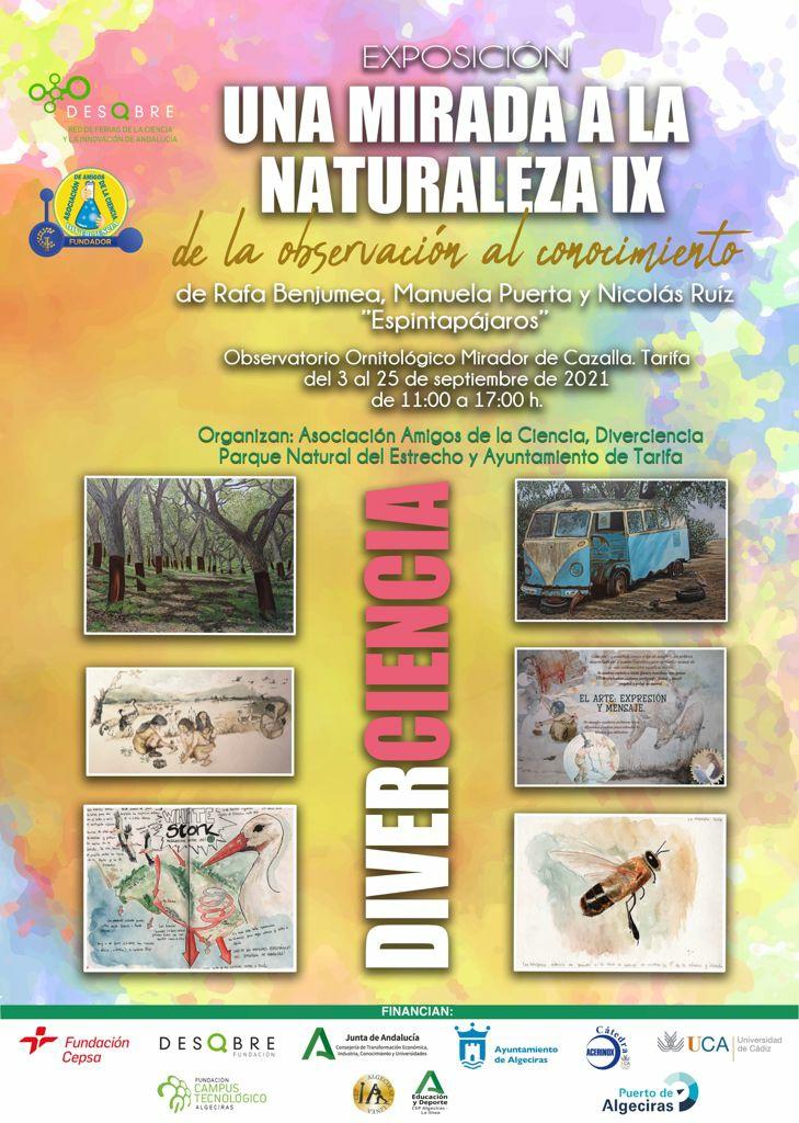 Exposición Una mirada a la naturaleza IX en el mirador de Cazalla, Tarifa