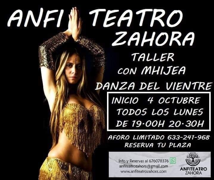 Taller de Danza del Vientre en Salita del Anfi Teatro Zahora