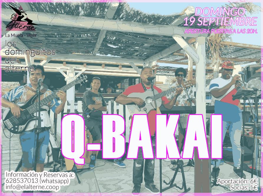 Concierto de Q-bakai en los dominguitos del Alterne