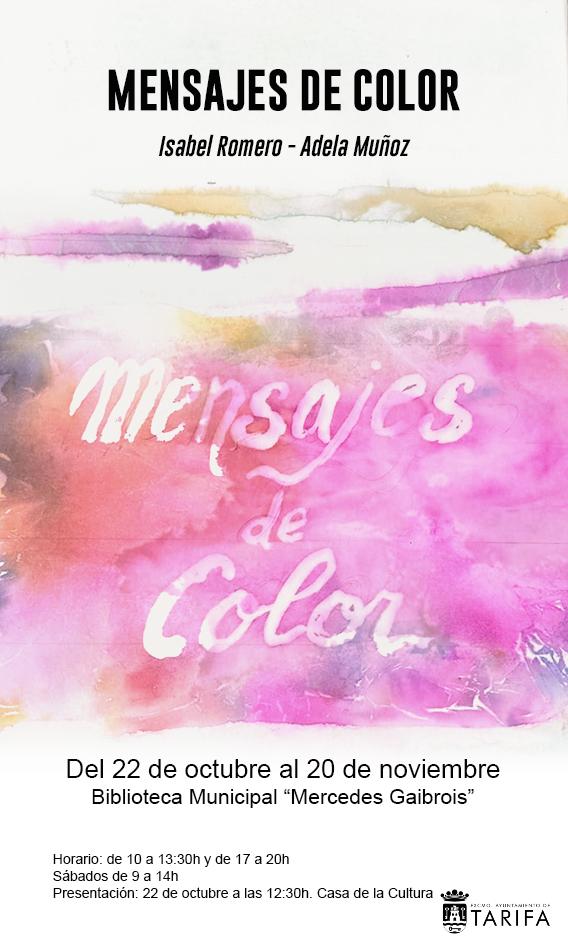 Exposición 'Mensajes de color' de Isabel Romero y Adela Muñoz en la Biblioteca Mercedes Gaibrois