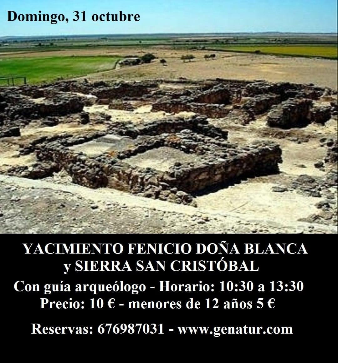 Visita guiada al Yacimiento fenicio Doña Blanca y Sierra de San Cristobal