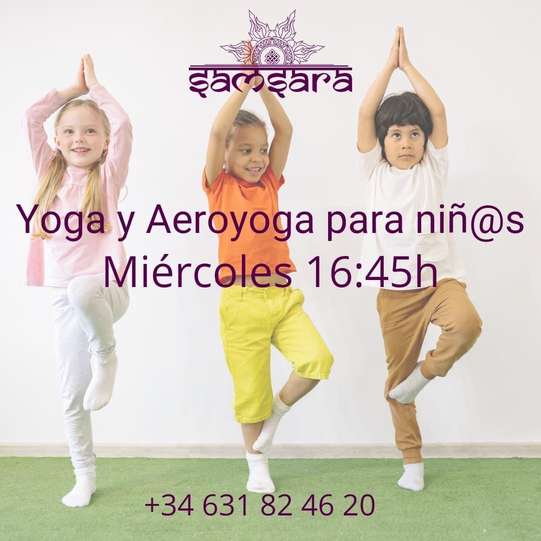 Yoga y Aeroyoga para niños en Samsara Conil